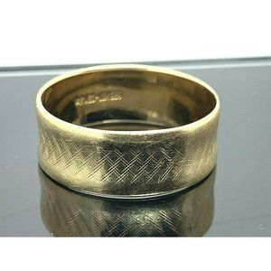 Wedding Band 14k Yellow Gold Solid Ring Size 9